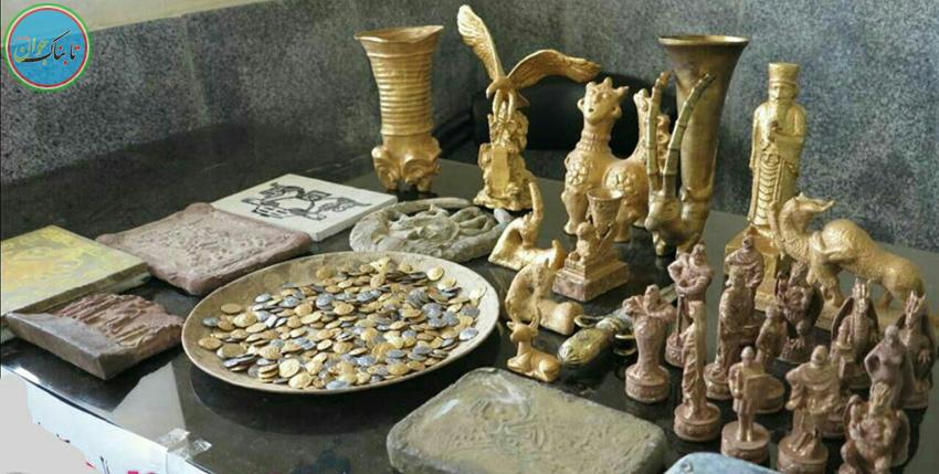 کشف ۱۰۰ قطعه شیء تاریخی هزاره اول قبل از میلاد