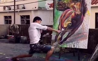 نقاشی با پاشیدن رنگ