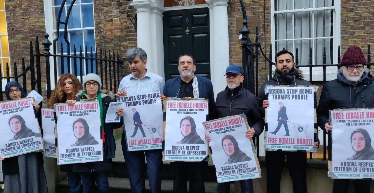 تجمع معترضان به دستگیری طرفدار سردار سلیمانی