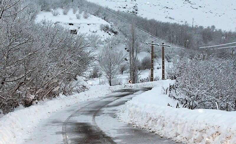 تلاش ماموران اداره برق گیلان در سرمای شدید