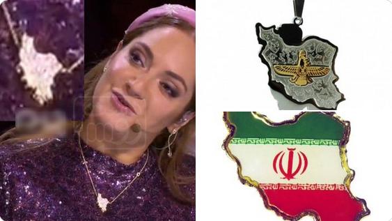 واکنش کاربران به نقشه تجزیه شده ایران بر گردن خانم بازیگر