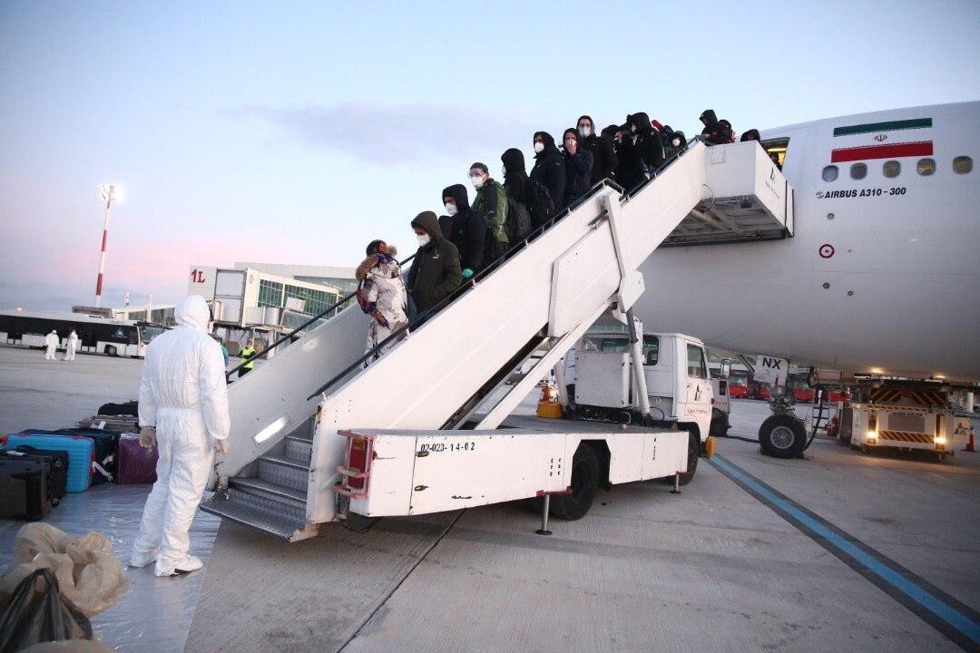 بازگشت دانشجویان از ووهان چین