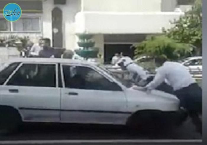 بسته خبری: پریدن مامور پلیس روی کاپوت پراید!