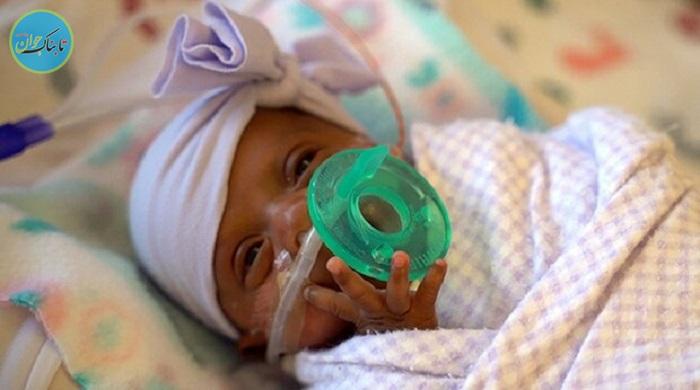 کوچکترین نوزاد دختر دنیا به خانه رفت