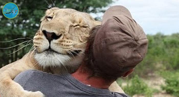 عکس العمل جالب حیوانات به کسی که نجاتشان داده!