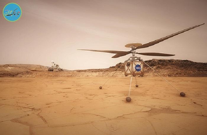 سربلندی هلیکوپتر مریخ ناسا در آزمایشها
