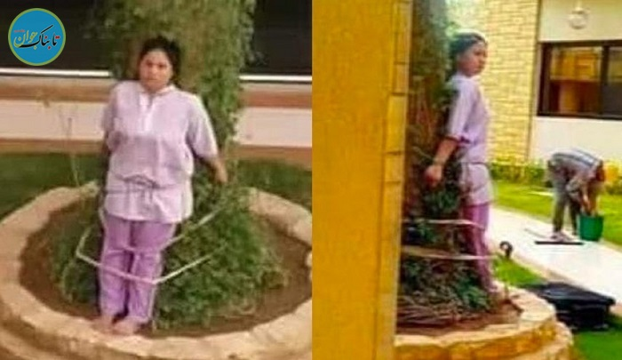 بسته خبری : تنبیه بی رحمانه یک خدمتکار توسط زوج ثروتمند عربستانی!