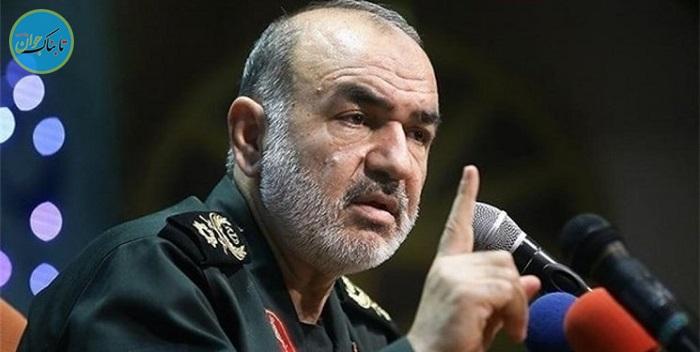 لحظه اعلام خبر سقوط پهپاد آمریکایی توسط سردار سلامی