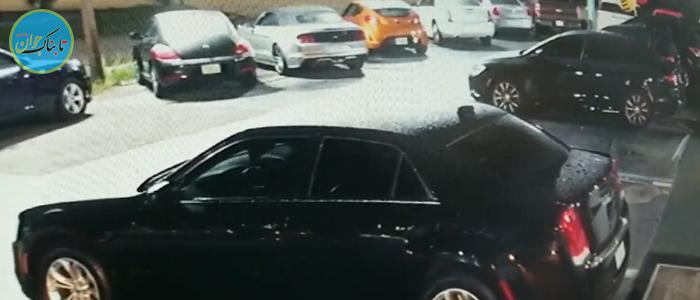 سقوط معجزه آسا بر روی سقف خودرو+ فیلم