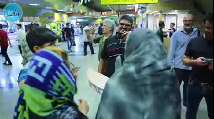 حضور متفاوت مردان و زنان نقره ای در مترو+ فیلم