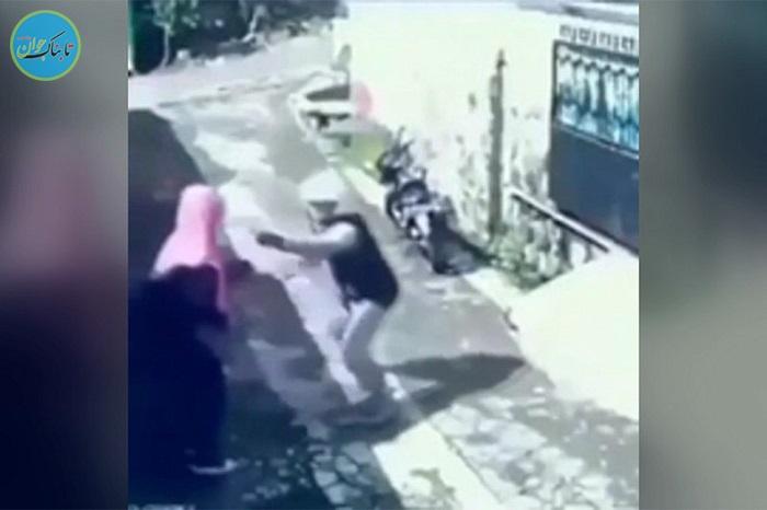وقتی سارق توسط یک زن غافلگیر می شود!+ فیلم