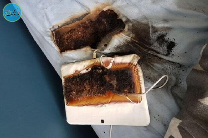 داغ شدن تبلت رختخواب پسربچه را سوزاند!