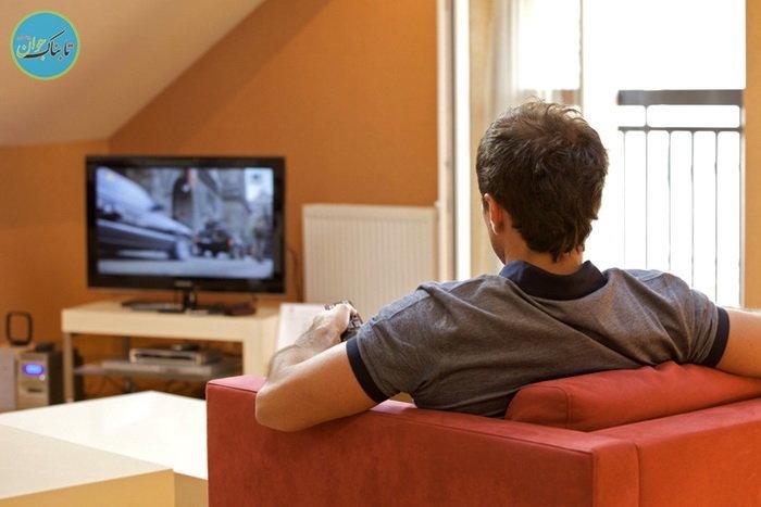 تماشای تلویزیون خطرناکتر از نشستن مداوم