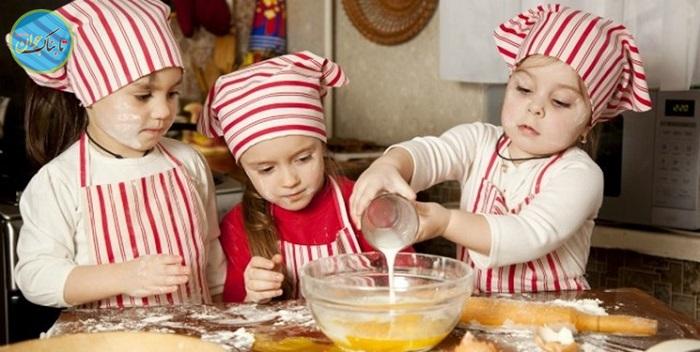 اینگونه با بچهها در آشپزخانه بازی کنید!
