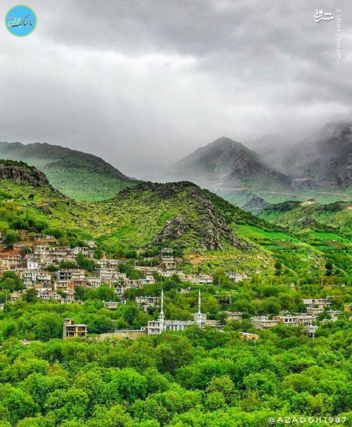 روستای زیبا شمشیر کرمانشاه