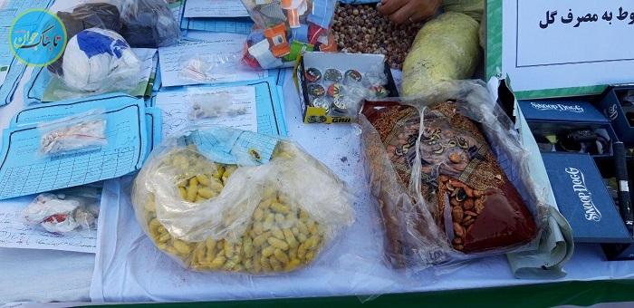 جاسازی مواد مخدر در بادام هندی و تخمه جابانی؟