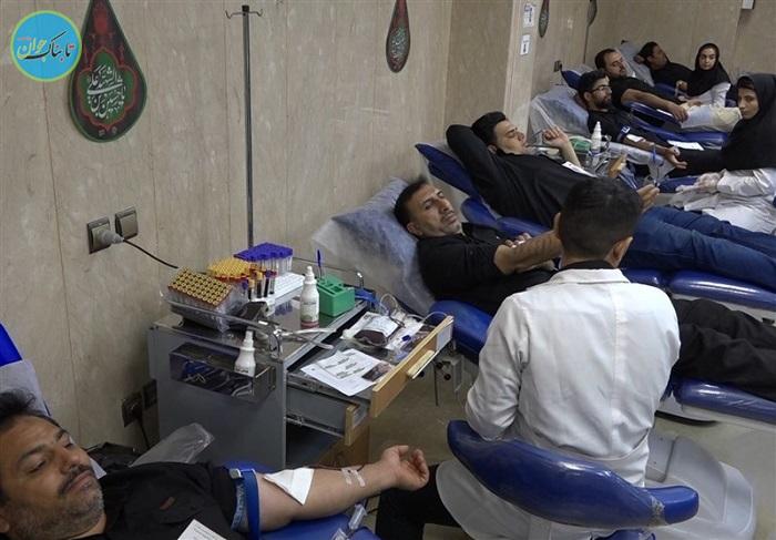 اهدای خون نذری در خمینی شهر