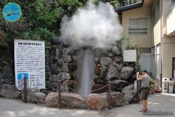 شهری در ژاپن که هر روز بخار میشود