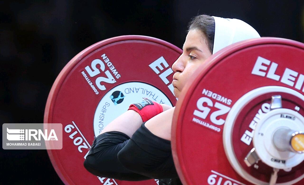 نخستین زن وزنه بردار ایرانی در مسابقات جهانی