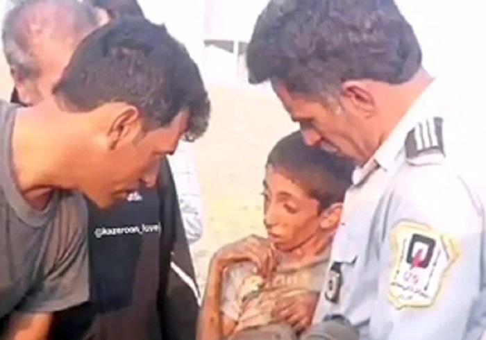 لحظه نجات دختر بچه ۳ ساله از سقوط از ساختمان ۷ طبقه!