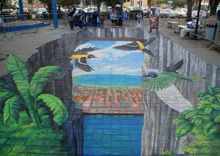 ییاده رو پارک یا تابلو نقاشی؟!