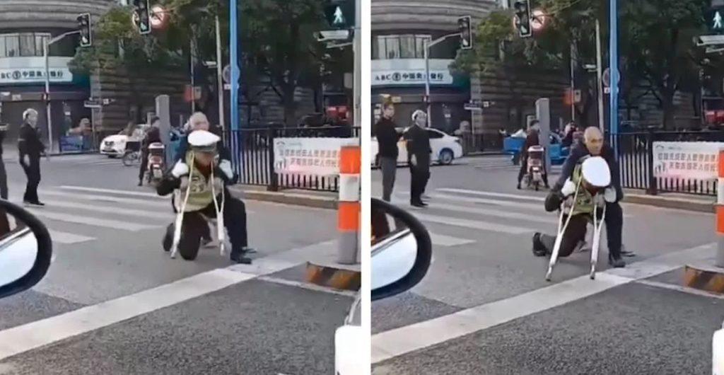 اقدام تحسین برانگیز مامور پلیس در خیابان