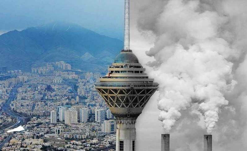 برج میلاد در آلودگی هوا و پاکی هوا