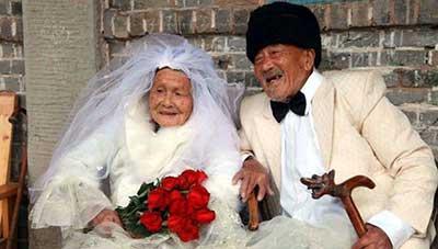 عروس و داماد پیر
