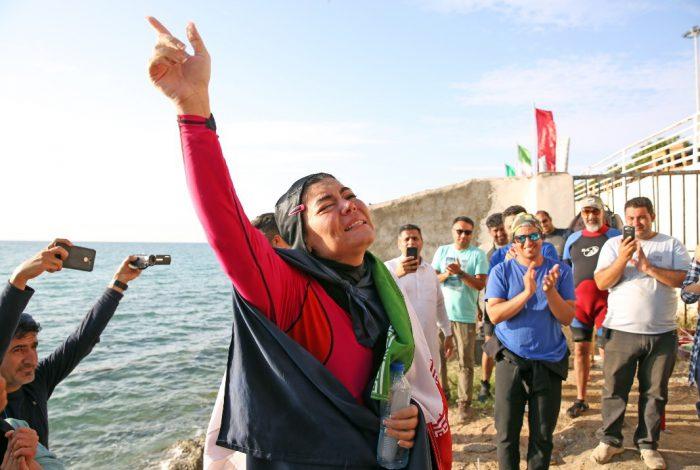دختر شناگر ایرانی