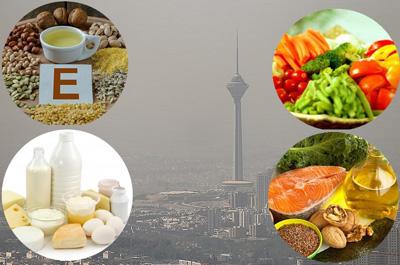 تغذیه در آلودگی هوا