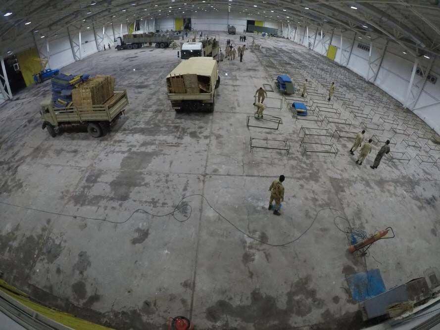 ساخت بیمارستان صحرایی توسط ارتش