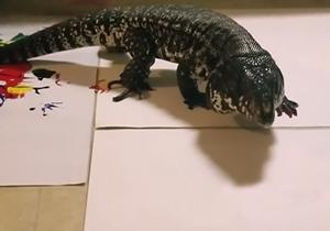 نقاشی مارمولک