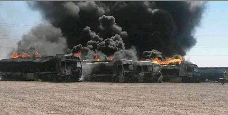 آتش سوزی در گمرک مرزی