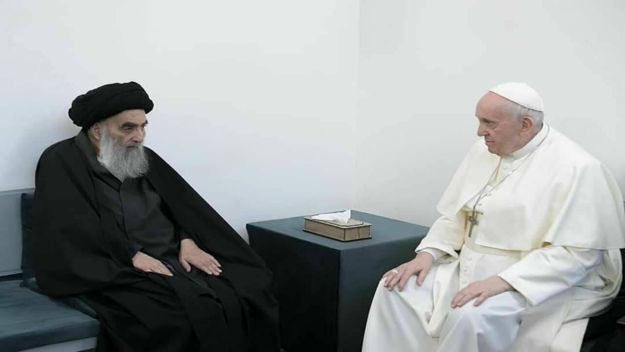 دیدار پاپ با آیت الله سیستانی
