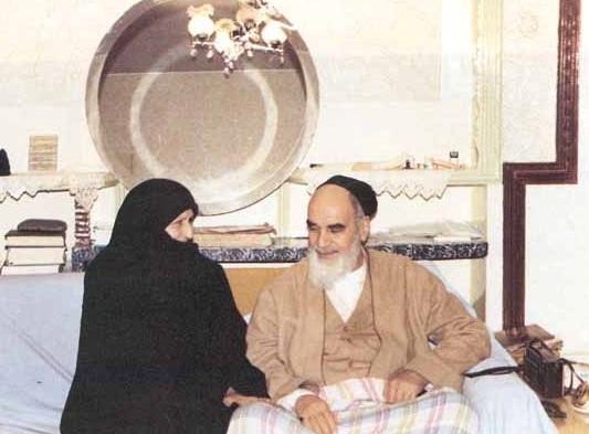 امام خمینی و همسرش