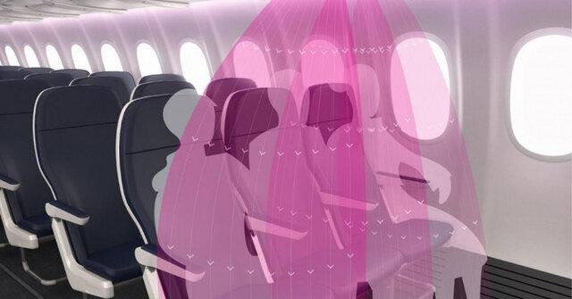 محافظ کرونا در هواپیما