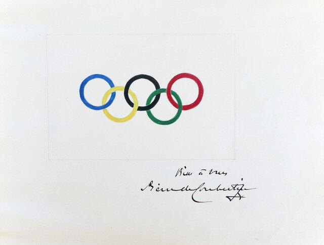 نقاشی حلقه های المپیک