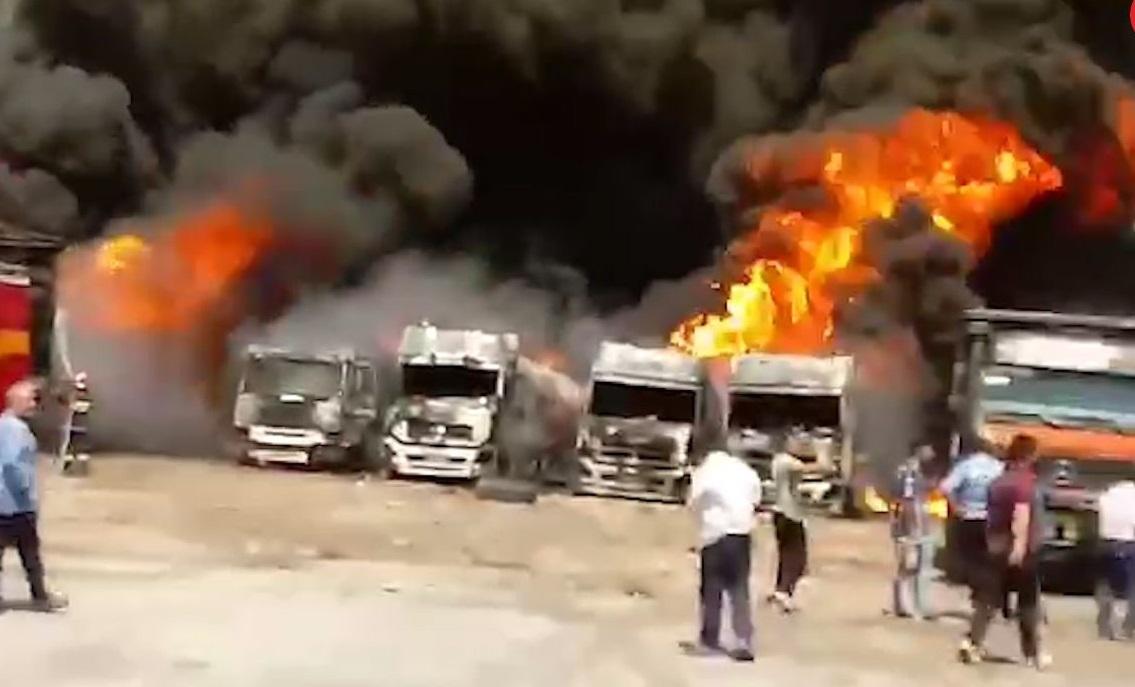 آتش سوزی در کرمانشاه