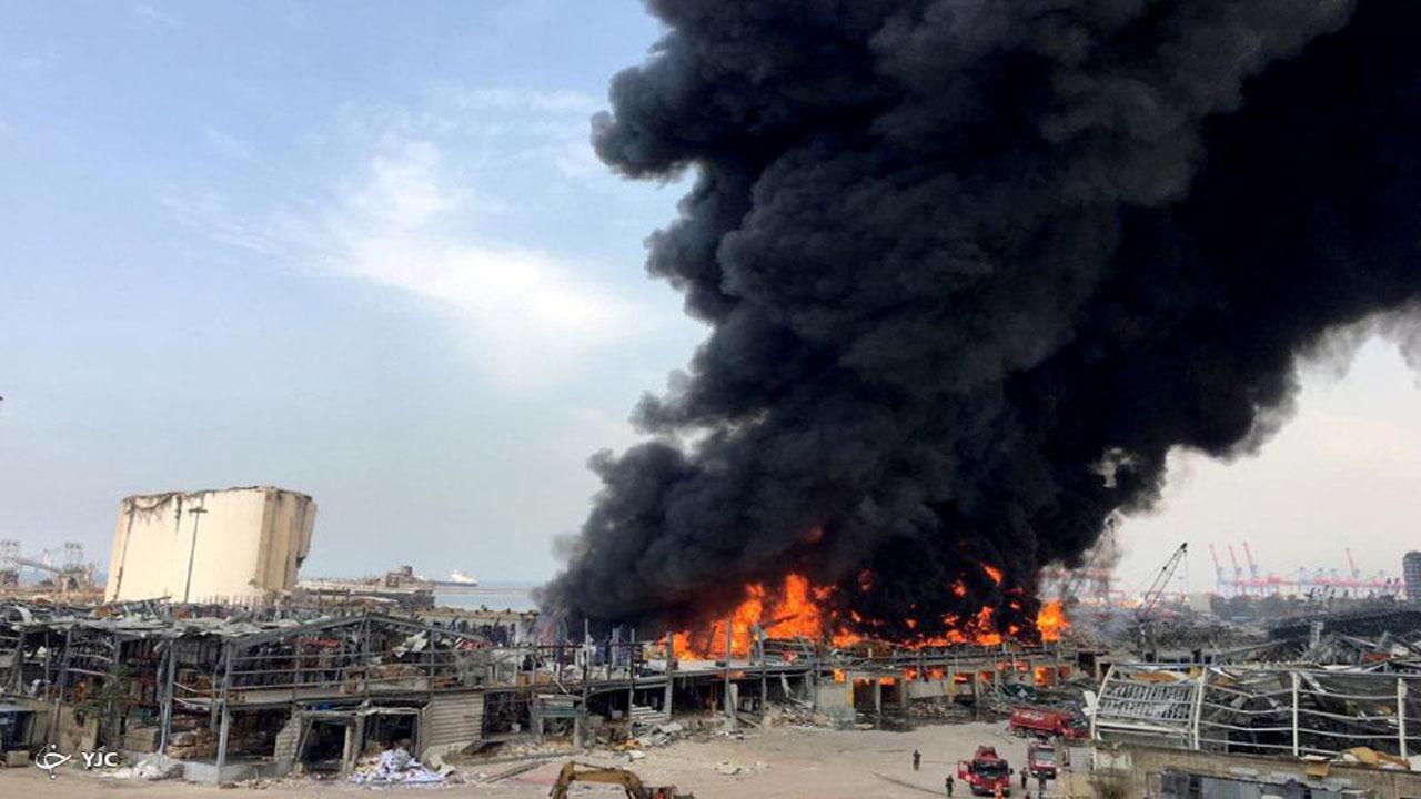 آتش سوزی بیروت