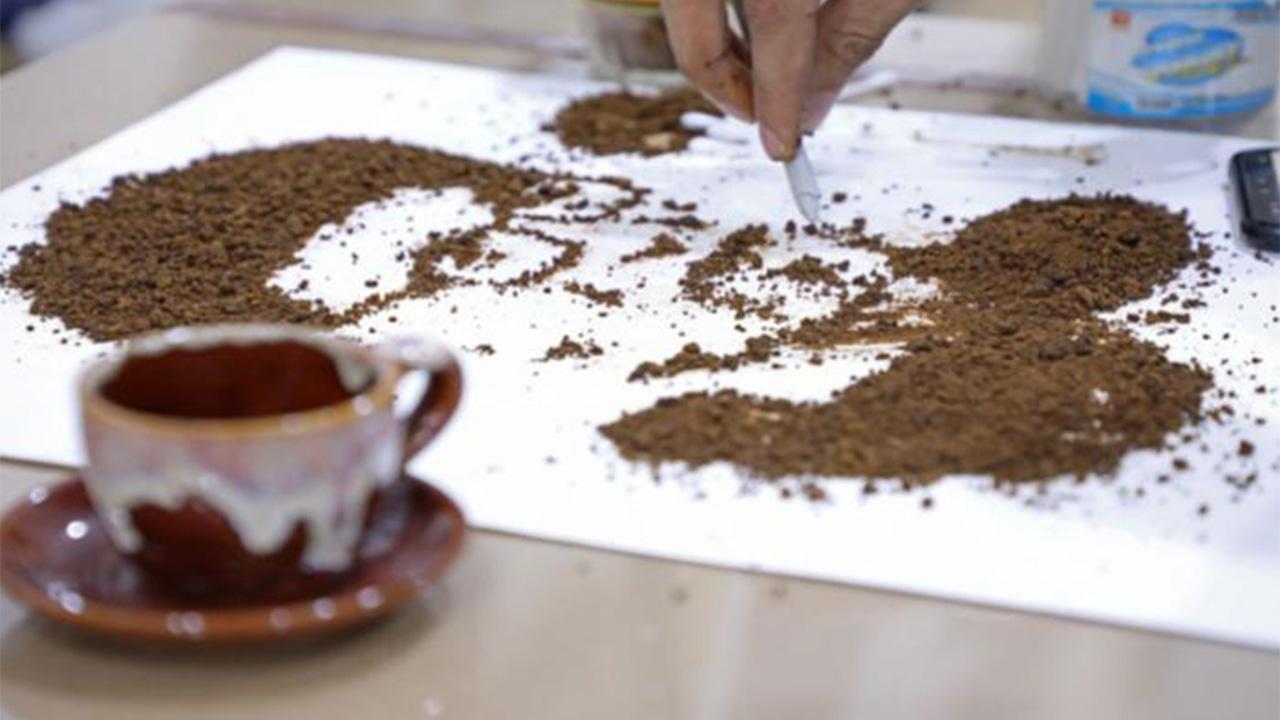 نقاشی با قهوه