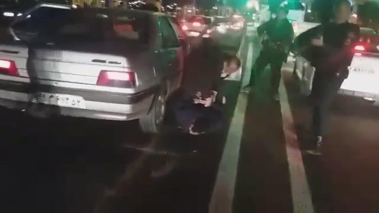 لحظه دستگیری گنده لات های شمال وسط اتوبان