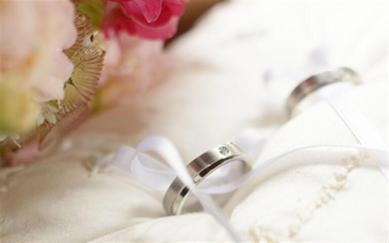 حلقه ازدواج با گل