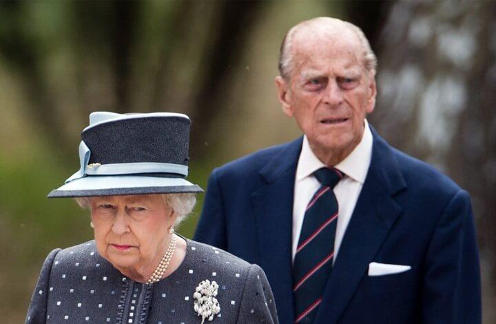 ملکه انگلیس و همسرش