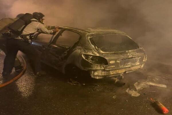 آتش سوزی خودرو