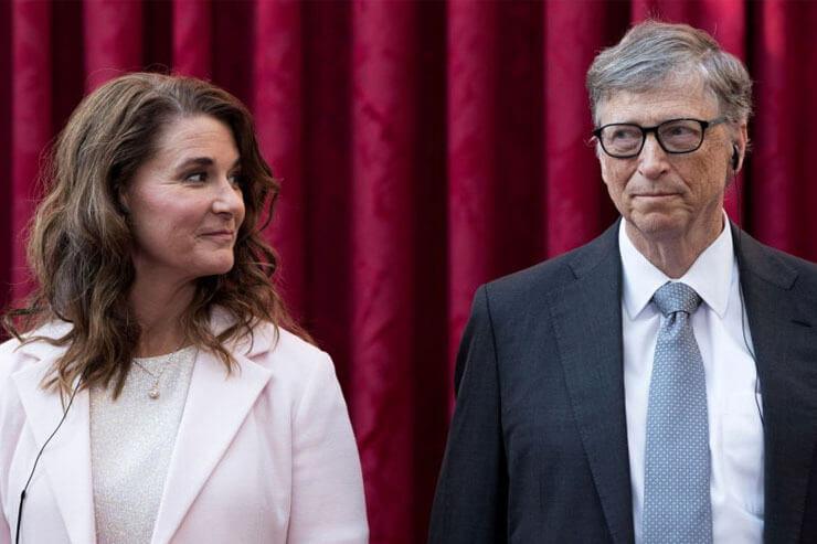 بیل گیتس و همسرش