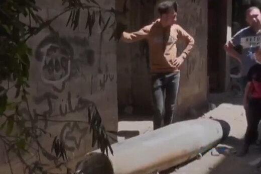 بمب عمل نکرده در غزه