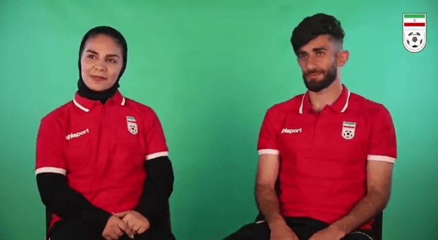 زوج ایرانی فوتبال