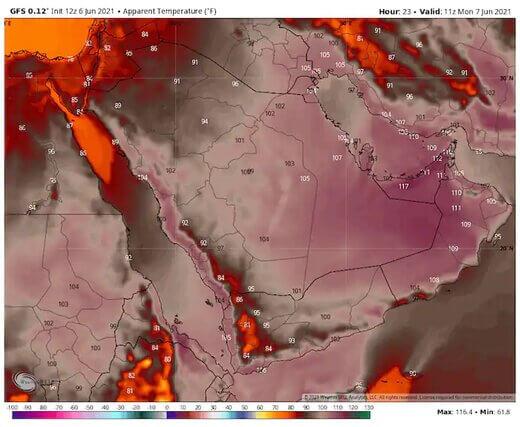 نقشه گرمای خاورمیانه