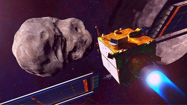 برخورد ماهواره به سیارک